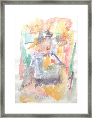 Framed Print featuring the painting Formal Signature by Esther Newman-Cohen