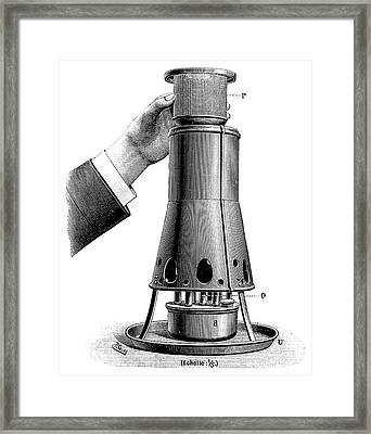 Formaldehyde Disinfection Framed Print by Science Photo Library