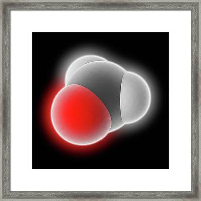 Formaldehyde Molecule Framed Print by Laguna Design