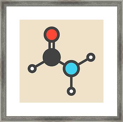 Formamide Solvent Molecule Framed Print by Molekuul