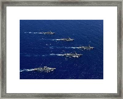 Formation Of Warships From The U.s Framed Print