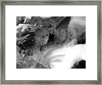 Formed Ice Skull Framed Print by Thomas Samida