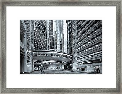 Former Enron Skybridge Ghosts Of The Past - Houston Texas Framed Print by Silvio Ligutti