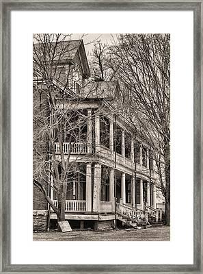 Former Grandeur Bw Framed Print