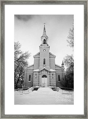 former st josephs catholic church in Forget Saskatchewan Canada Framed Print