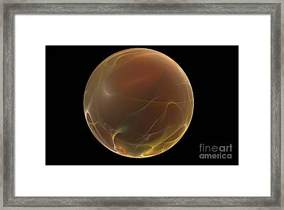 Forming Of The Sphere Framed Print by Peter R Nicholls