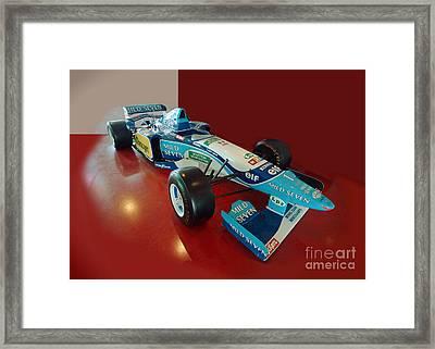 Formula 1 Benetton Renault From Michael Schumacher Framed Print by Rudi Prott