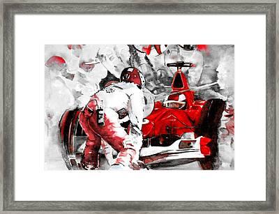 Formula 1 Bis Framed Print by Miki De Goodaboom