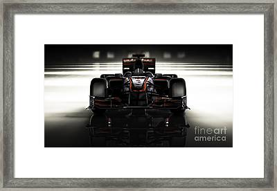 Formula 1 Face Framed Print by Marshall Bishop