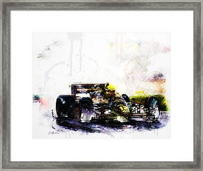 Formula 1 John Player Special Framed Print by Gary Bodnar