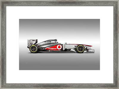 Formula 1 Mclaren Mp4-28 2013 Framed Print by Gianfranco Weiss