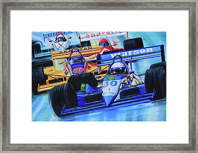 Formula 1 Race Framed Print by Hanne Lore Koehler