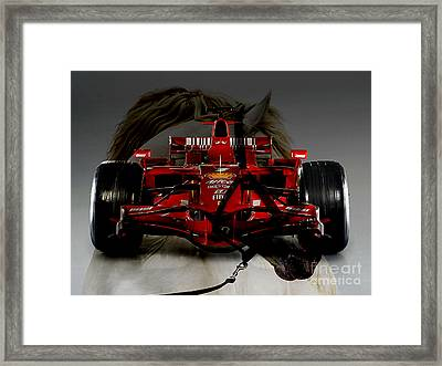Formula One Horse Power Framed Print by Marvin Blaine