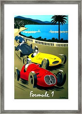 Formule 1 Racing Poster Formula 1 Framed Print