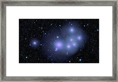 Fornax Cluster Galaxies Framed Print by Nasa/jpl-caltech