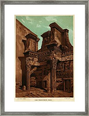 Foro Transitorum     Date 1891 Framed Print by Mary Evans Picture Library