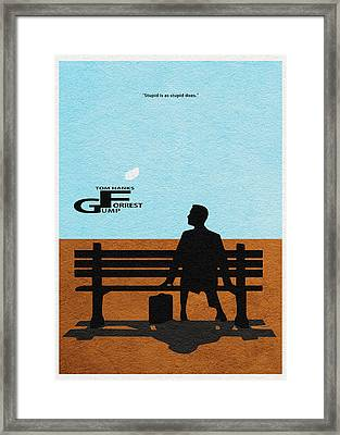 Forrest Gump Framed Print by Ayse Deniz
