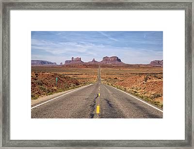 Forrest Gump Monument Valley View Framed Print