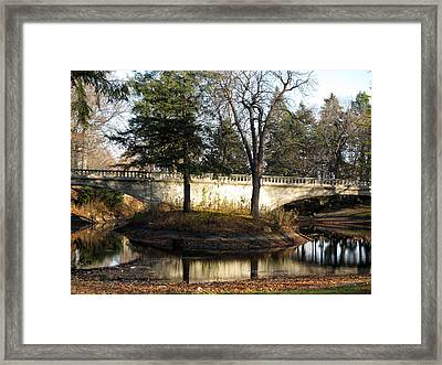 Forrest Home Bridge Framed Print by Kimberly Mackowski