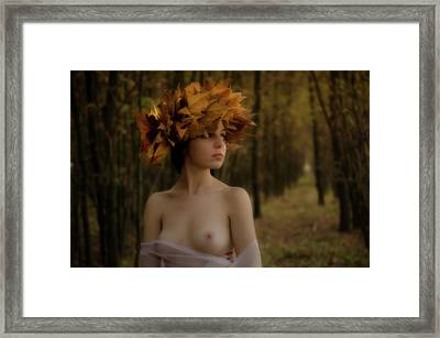 Forrest Nymph Framed Print by Tibor Arva