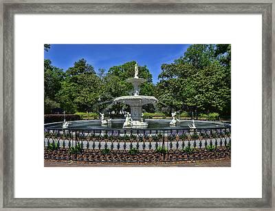Forsyth Fountain 5 Framed Print