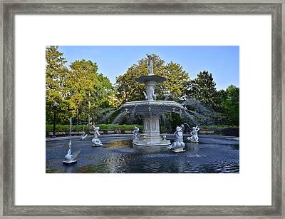 Forsyth Fountain 3 Framed Print