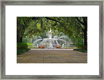 Forsyth Fountain Framed Print by John Roberts