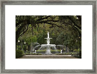 Forsyth Park Fountain - D002615 Framed Print by Daniel Dempster