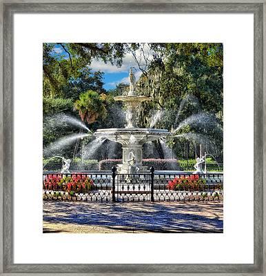 Forsyth Park Fountain Framed Print