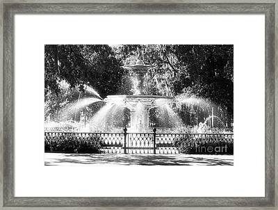 Forsyth Park Fountain Framed Print by John Rizzuto