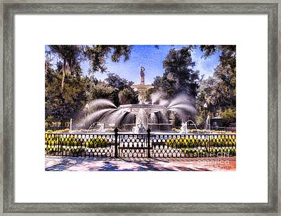 Forsyth Park Fountain Framed Print