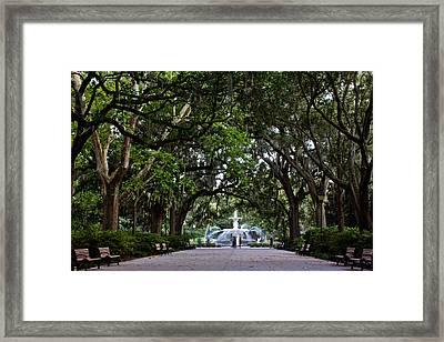 Forsyth Park Fountain Savannah Georgia  Framed Print