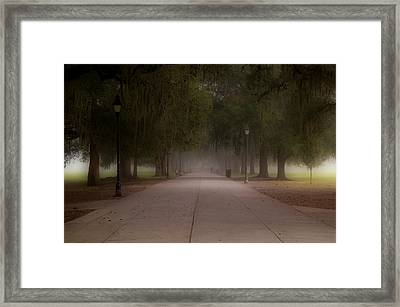Framed Print featuring the photograph Forsyth Park Pathway by Frank Bright