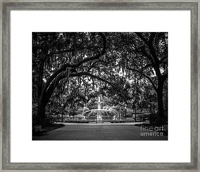 Forsyth Park Framed Print by Perry Webster