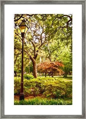 Forsythe Park View Framed Print by Diana Powell