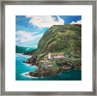 Fort Amherst Newfoundland Framed Print