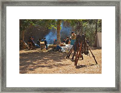 Fort Anderson Civil War Re Enactment 4 Framed Print