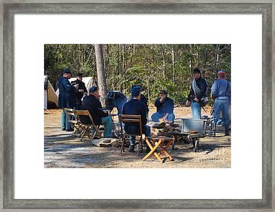 Fort Anderson Civil War Re Enactment 5 Framed Print