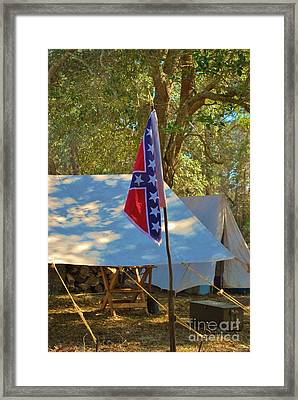 Confederate Encampment At Fort Anderson  Framed Print