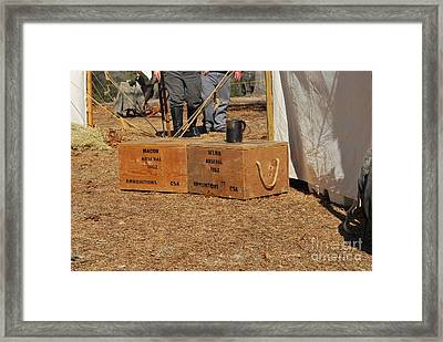 Confederate Encampment At Fort Anderson 2 Framed Print