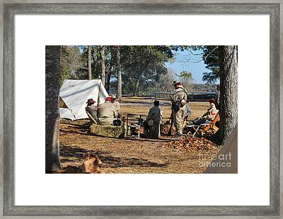 Confederate Encampment At Fort Anderson 3 Framed Print
