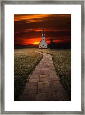 Fort Belmont Sunset 2014 Framed Print by Aaron J Groen