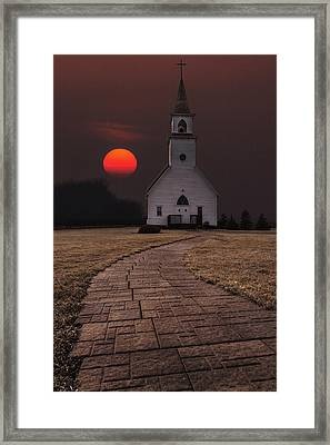 Fort Belmont Sunset Framed Print by Aaron J Groen