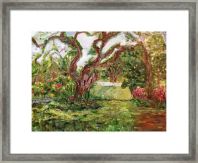 Framed Print featuring the painting Fort Canning Wonderland by Belinda Low