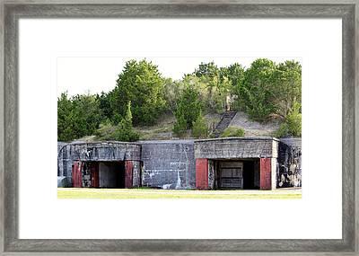 Fort Caswell Framed Print by Cynthia Guinn