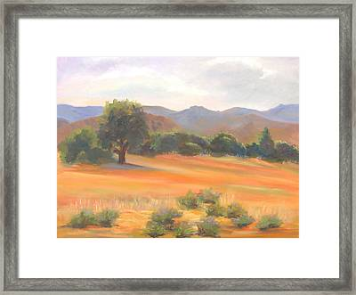 Fort Collins Foothills Framed Print by Marcy Silverstein