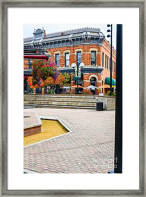 Fort Collins Square Framed Print by Keith Ducker