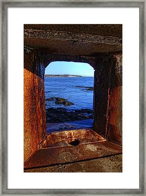 Fort Constitution Framed Print by Joann Vitali