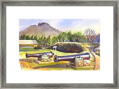 Fort Davidson Cannon II Framed Print by Kip DeVore