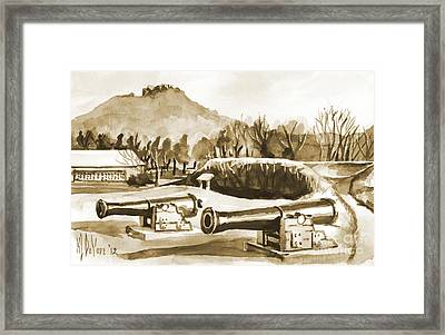 Fort Davidson Cannon Iv Framed Print